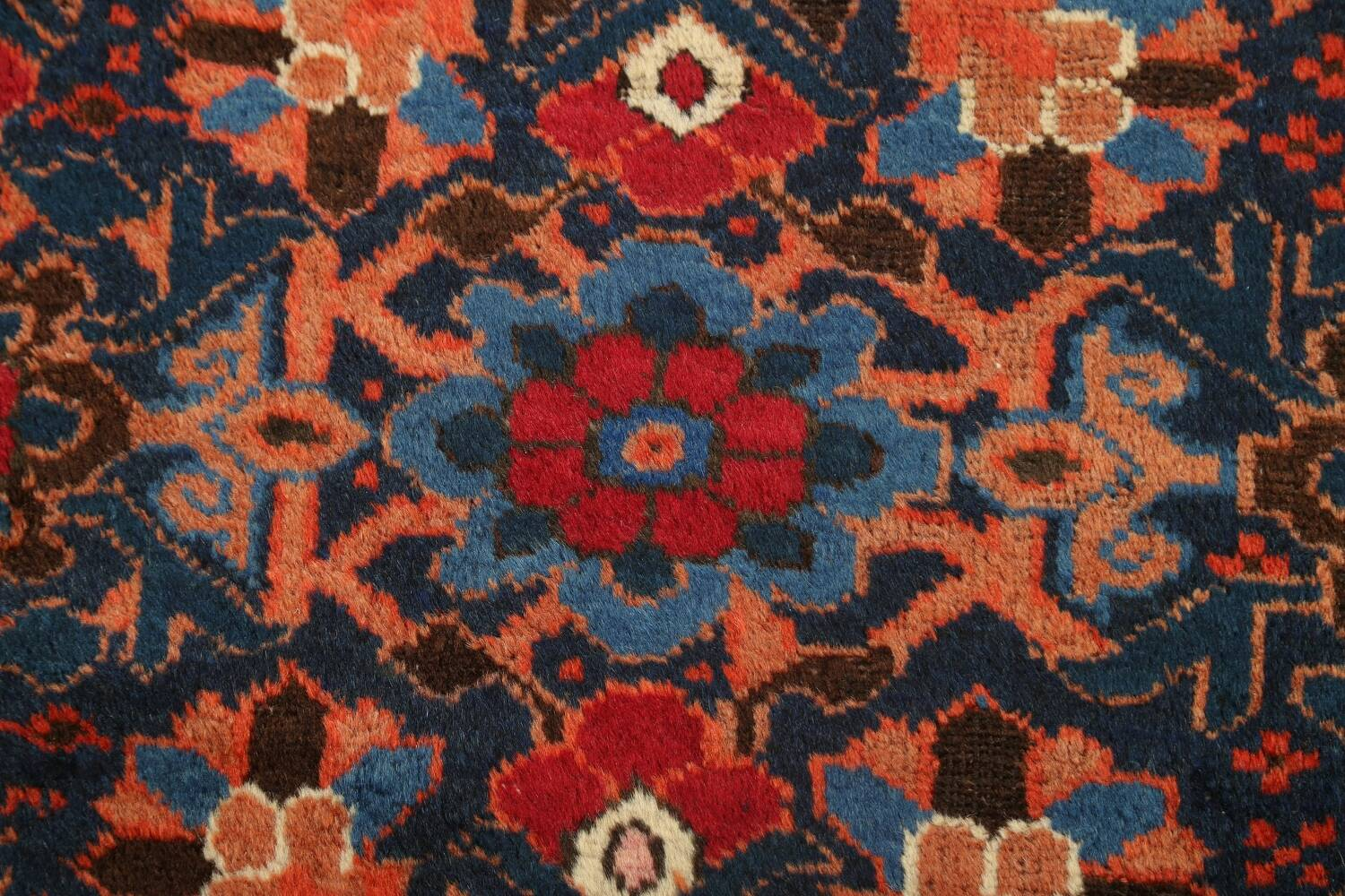 Antique 100% Vegetable Dye Malayer Persian Area Rug 4x7 image 9