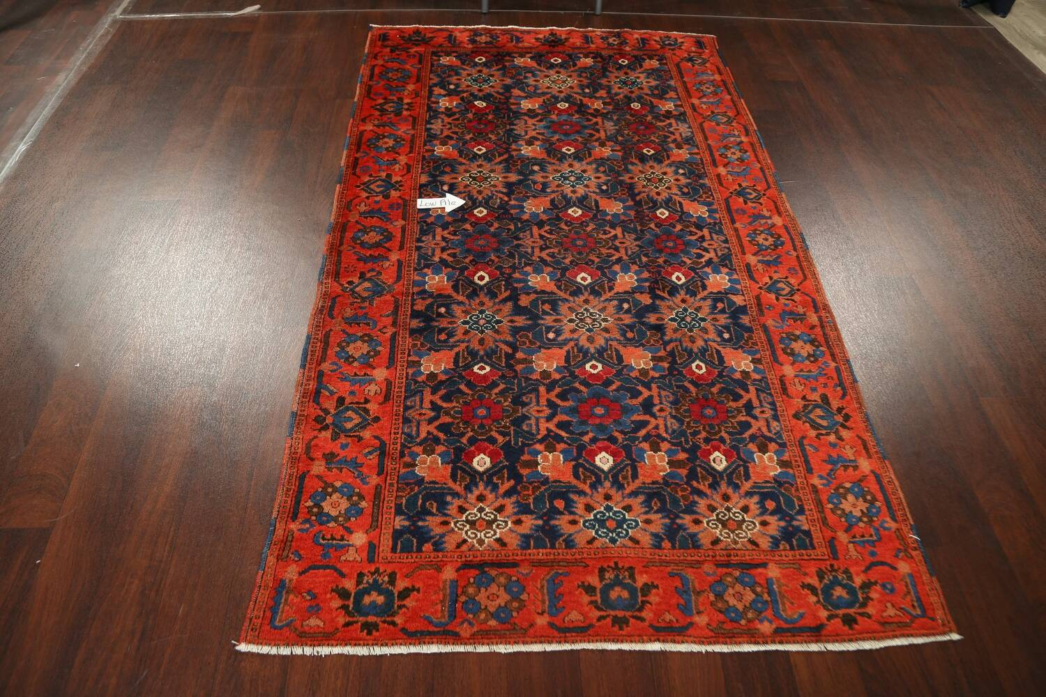 Antique 100% Vegetable Dye Malayer Persian Area Rug 4x7 image 13
