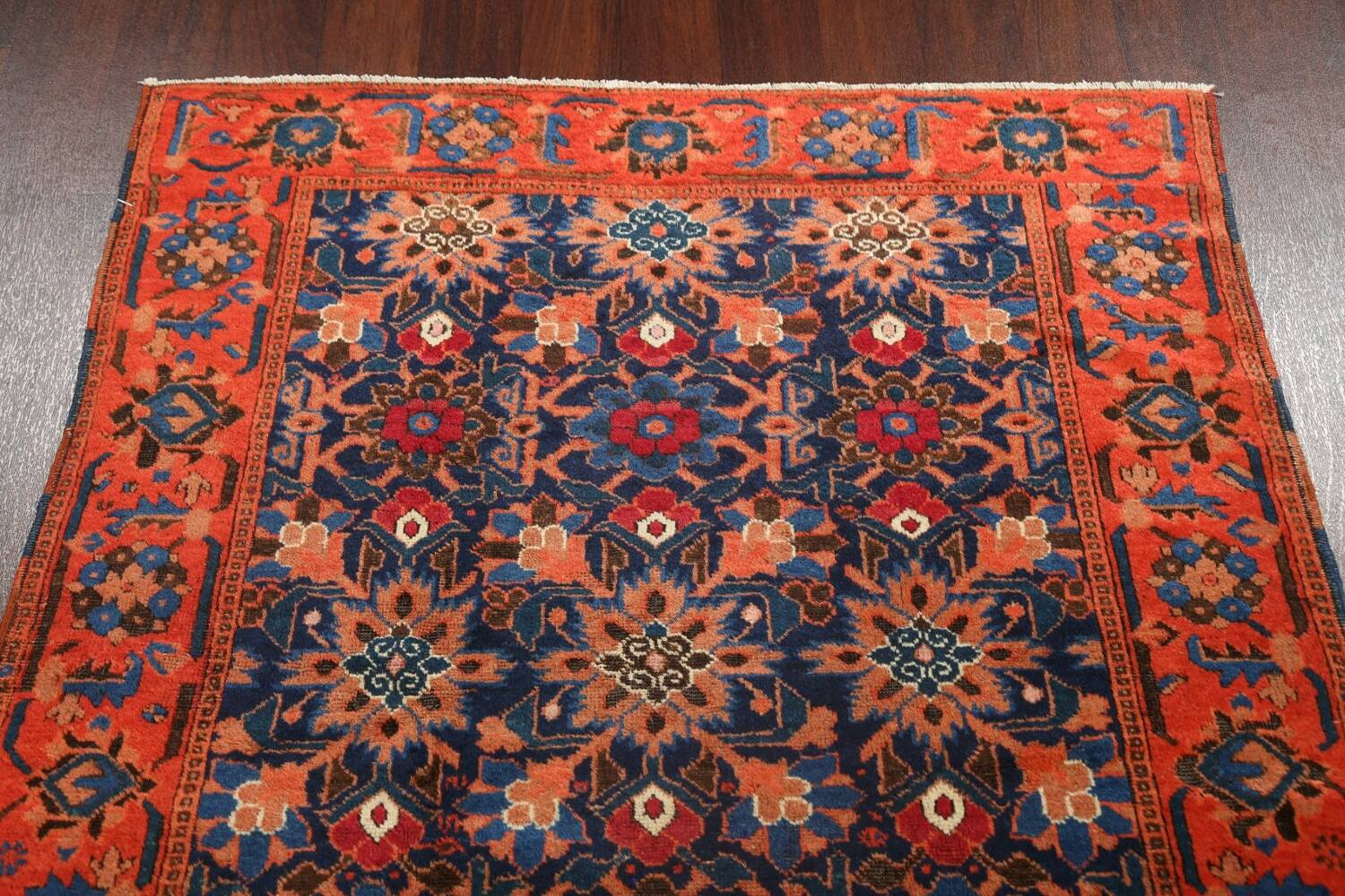 Antique 100% Vegetable Dye Malayer Persian Area Rug 4x7 image 14
