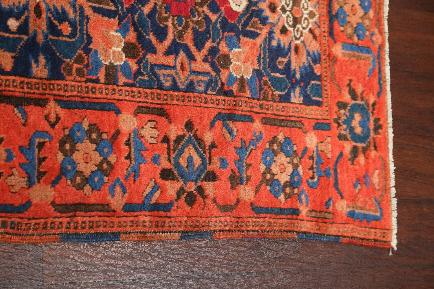 Antique 100% Vegetable Dye Malayer Persian Area Rug 4x7 image 15
