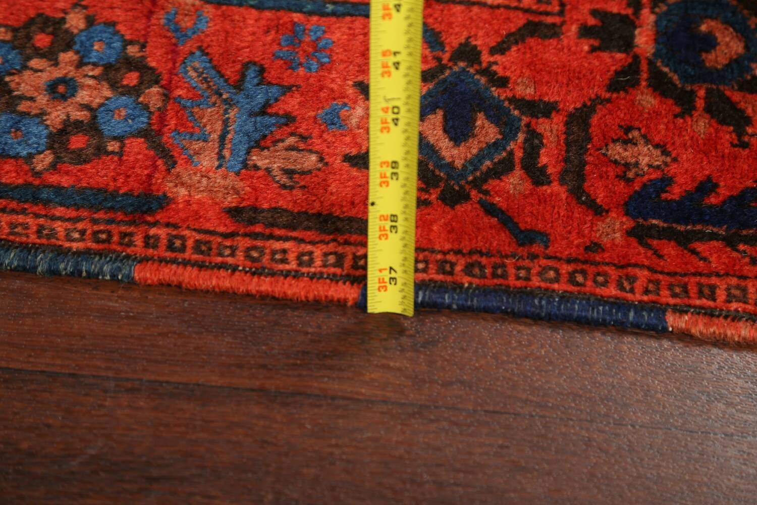 Antique 100% Vegetable Dye Malayer Persian Area Rug 4x7 image 21