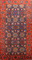 Antique 100% Vegetable Dye Malayer Persian Area Rug 4x7 image 1