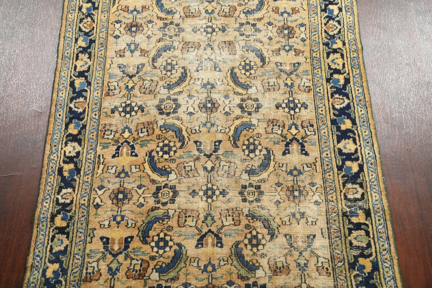 Pre-1900 Antique Vegetable Dye Sultanabad Persian Area Rug 4x7 image 3