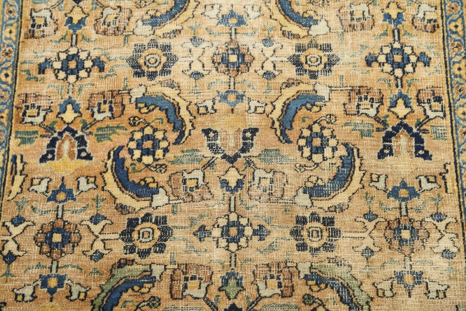 Pre-1900 Antique Vegetable Dye Sultanabad Persian Area Rug 4x7 image 4