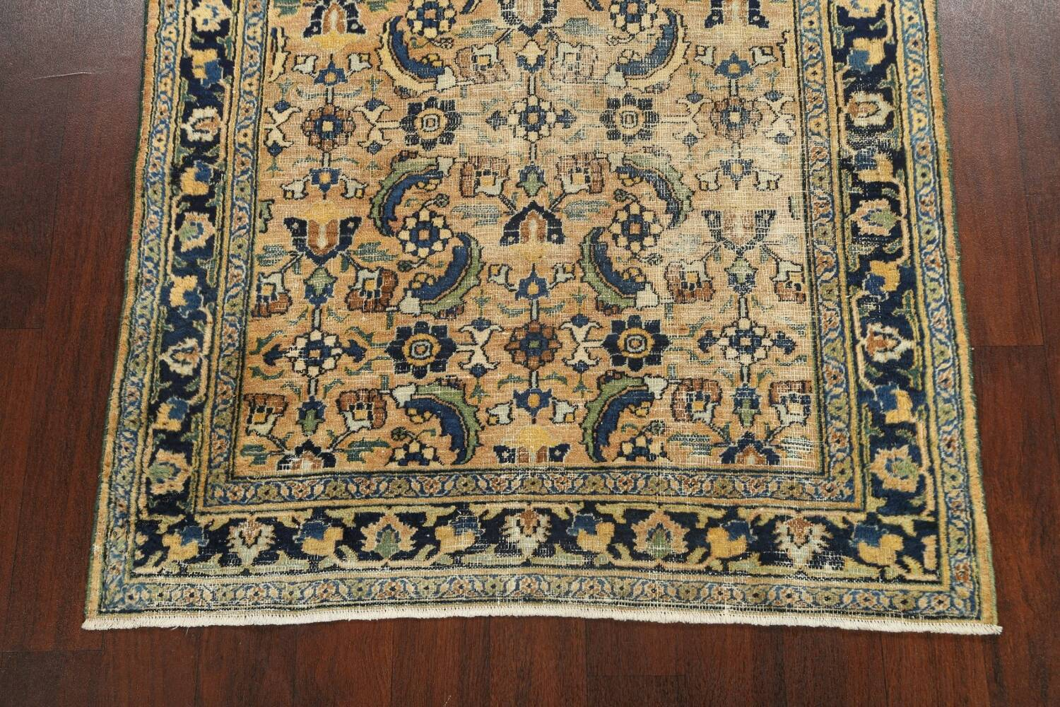Pre-1900 Antique Vegetable Dye Sultanabad Persian Area Rug 4x7 image 8