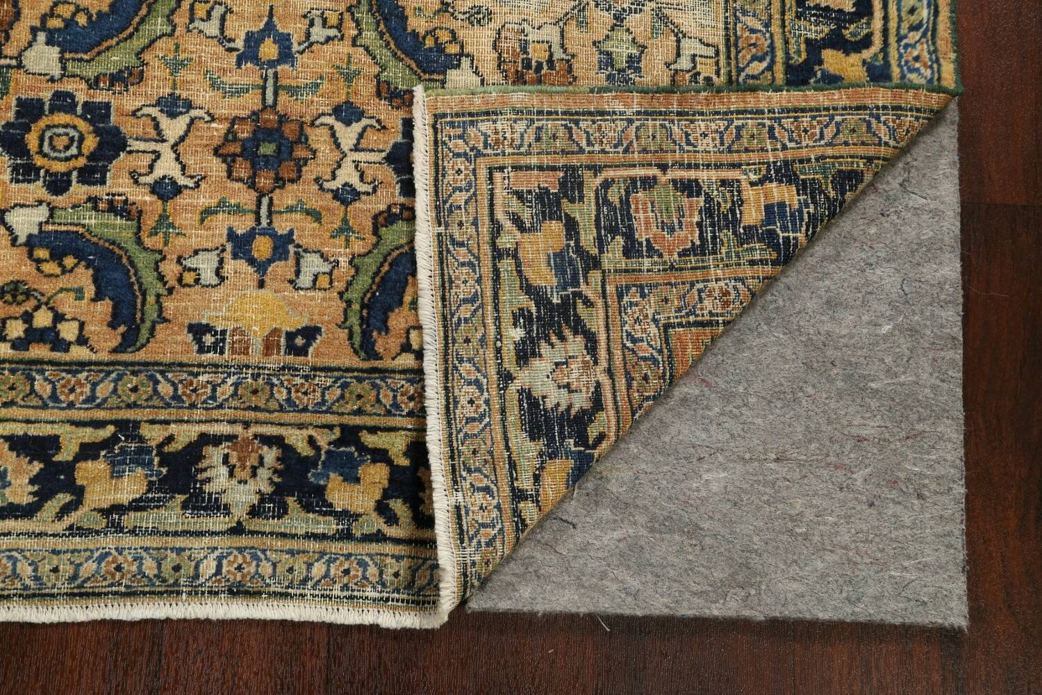 Pre-1900 Antique Vegetable Dye Sultanabad Persian Area Rug 4x7 image 7