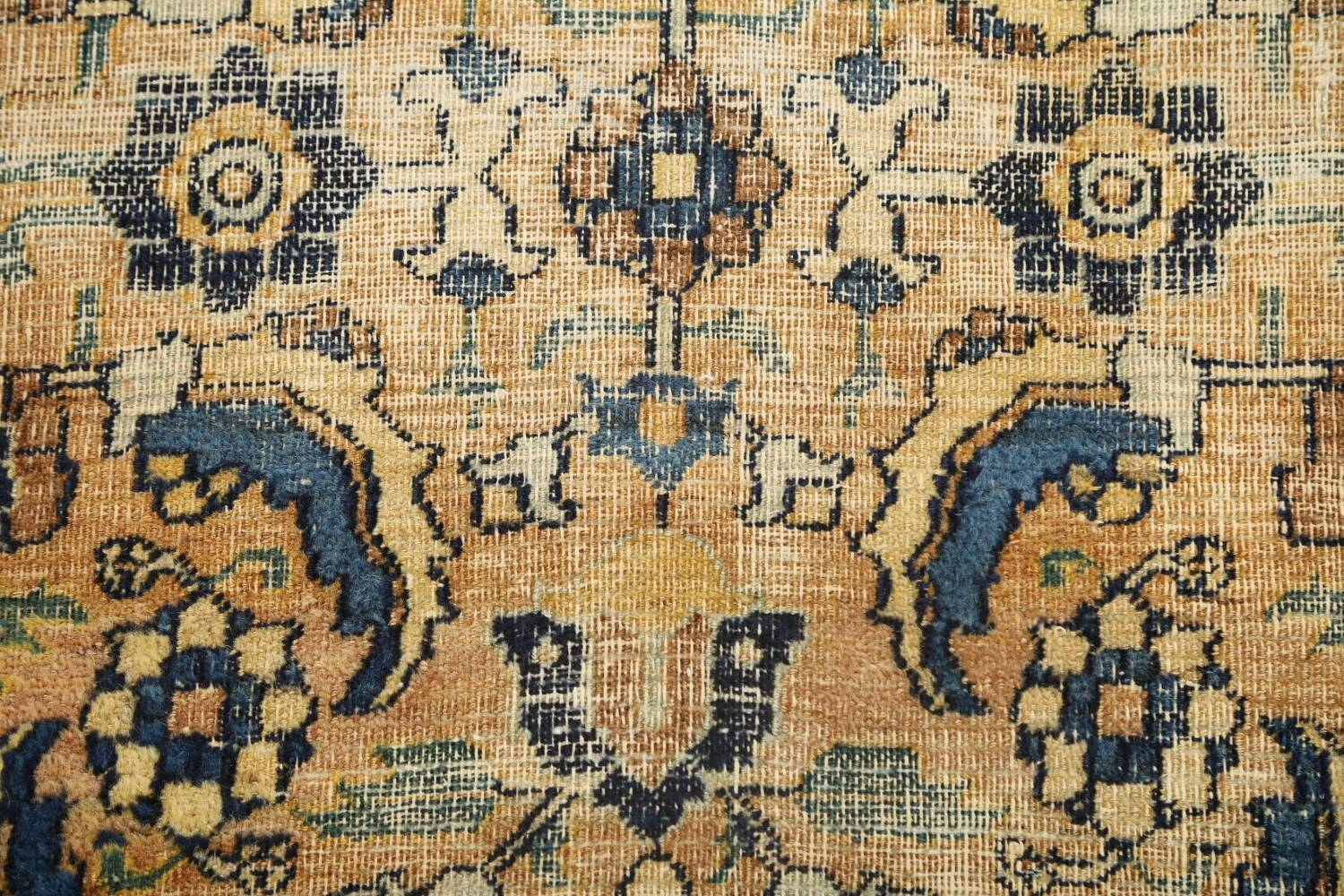 Pre-1900 Antique Vegetable Dye Sultanabad Persian Area Rug 4x7 image 10