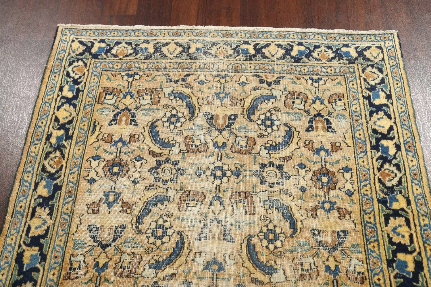 Pre-1900 Antique Vegetable Dye Sultanabad Persian Area Rug 4x7 image 13