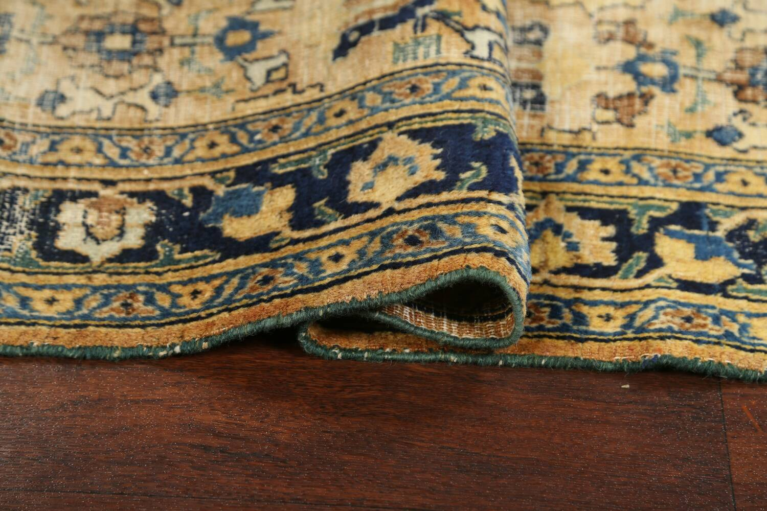 Pre-1900 Antique Vegetable Dye Sultanabad Persian Area Rug 4x7 image 15