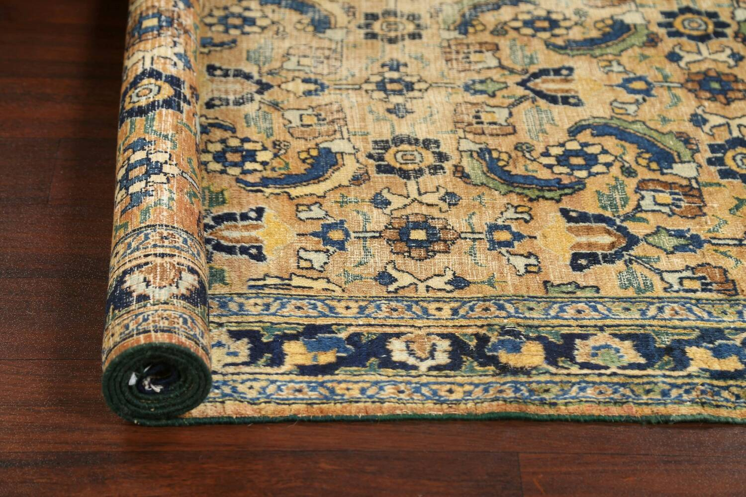 Pre-1900 Antique Vegetable Dye Sultanabad Persian Area Rug 4x7 image 18