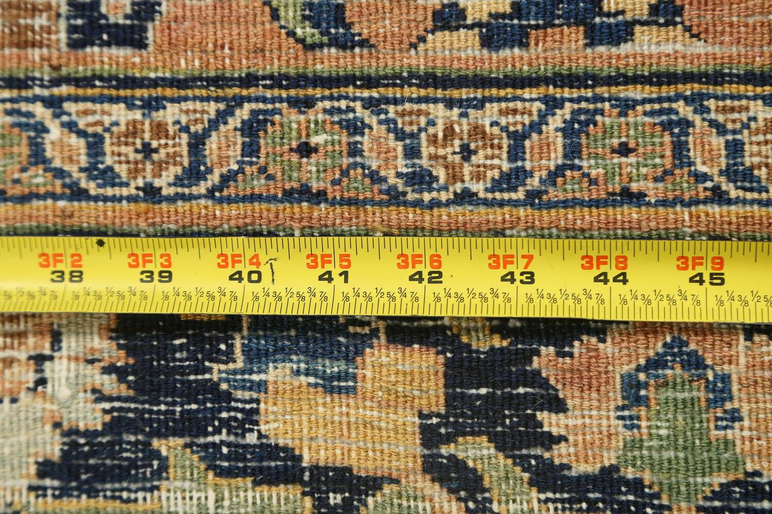 Pre-1900 Antique Vegetable Dye Sultanabad Persian Area Rug 4x7 image 21