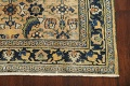 Pre-1900 Antique Vegetable Dye Sultanabad Persian Area Rug 4x7 image 5