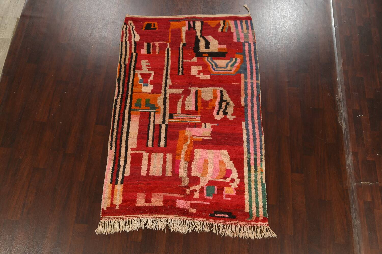 Abstract Modern Moroccan Oriental Area Rug 5x8 image 2