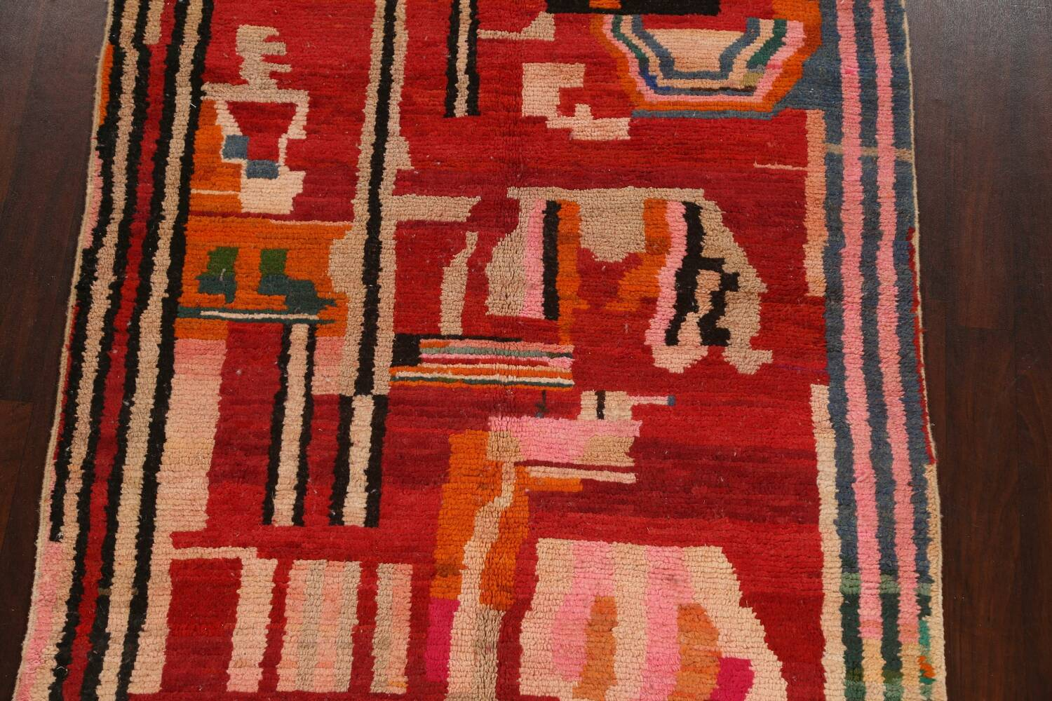 Abstract Modern Moroccan Oriental Area Rug 5x8 image 3