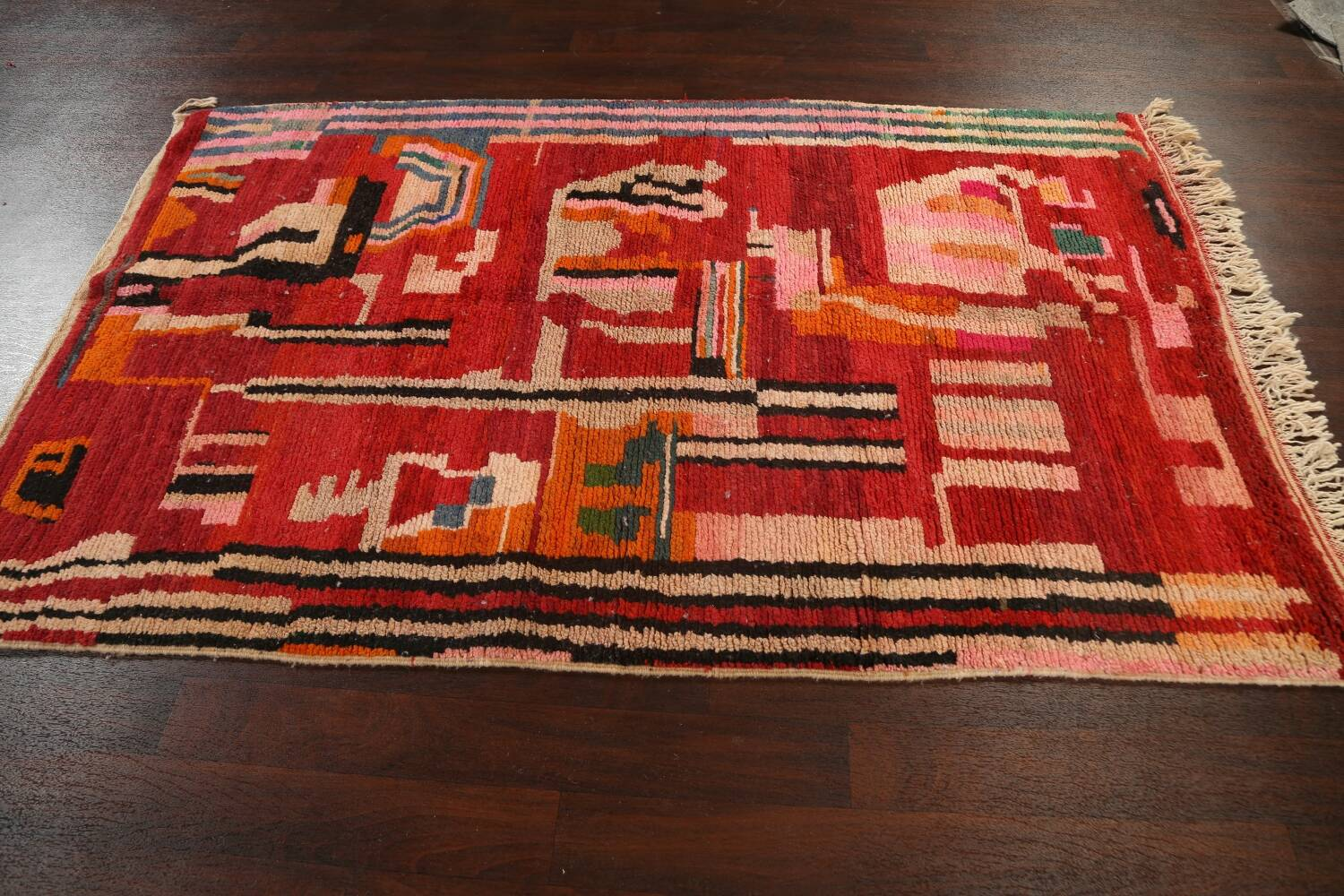 Abstract Modern Moroccan Oriental Area Rug 5x8 image 14