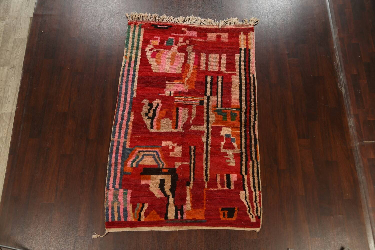 Abstract Modern Moroccan Oriental Area Rug 5x8 image 15