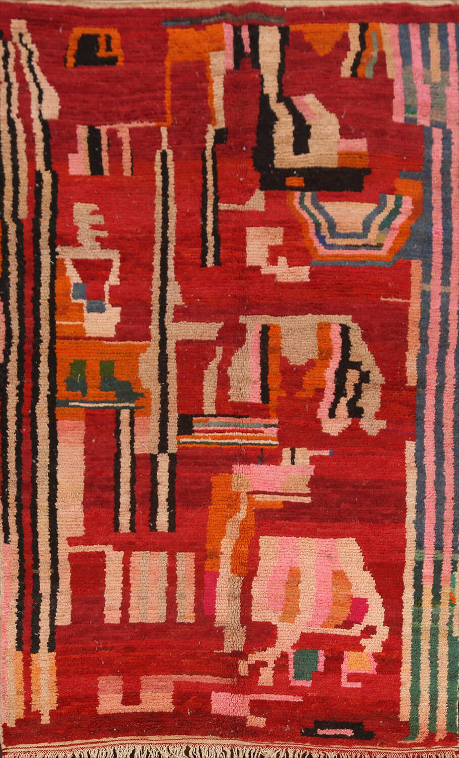 Abstract Modern Moroccan Oriental Area Rug 5x8 image 1