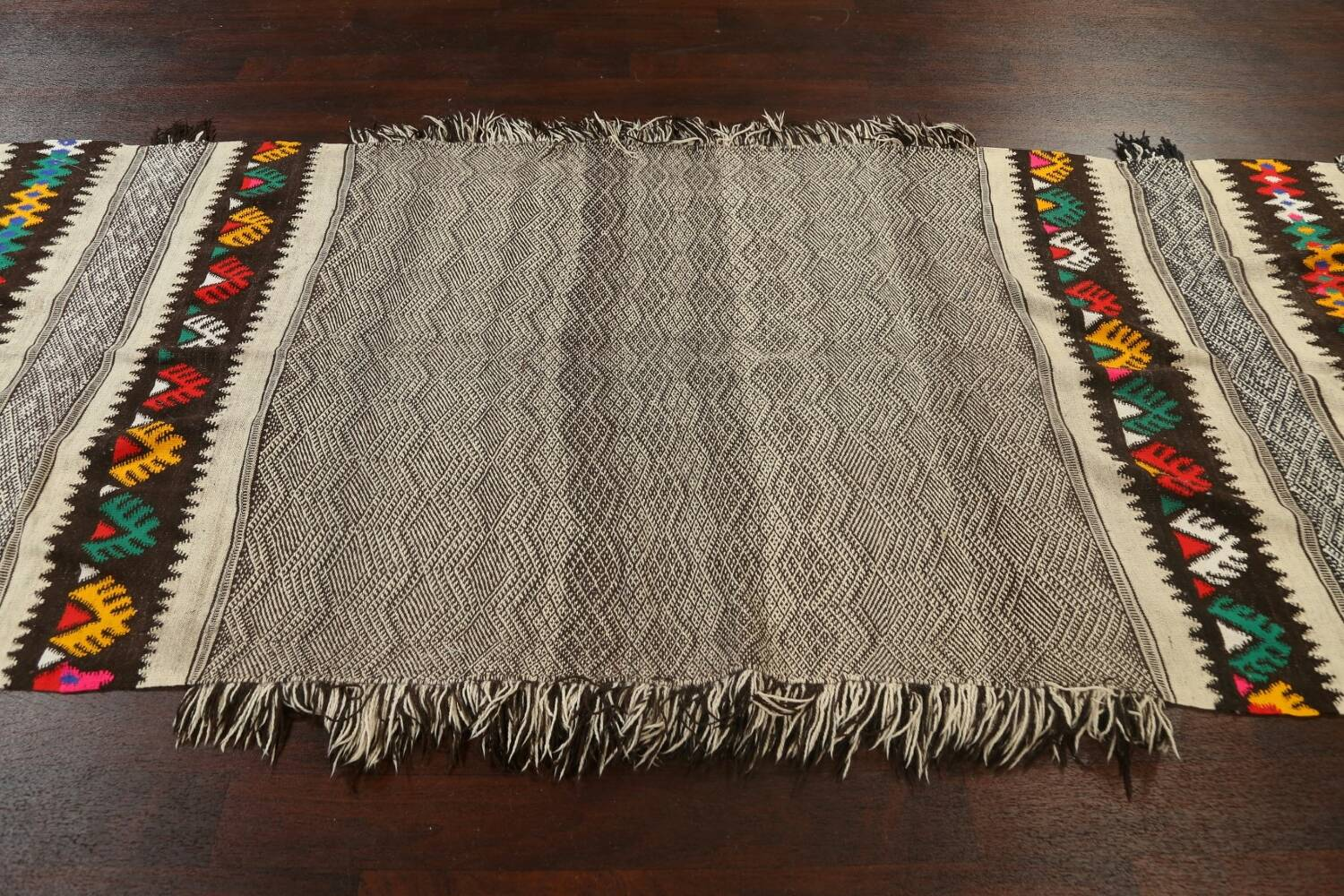 Tribal Chevron Style Moroccan Oriental Runner Rug 4x11 image 14