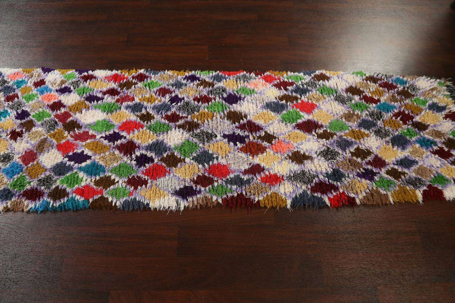 All-Over Checkered Moroccan Oriental Runner Rug 3x9 image 13
