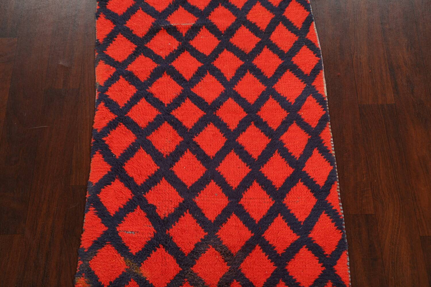 Checkered Tribal Moroccan Oriental Area Rug 3x6 image 3