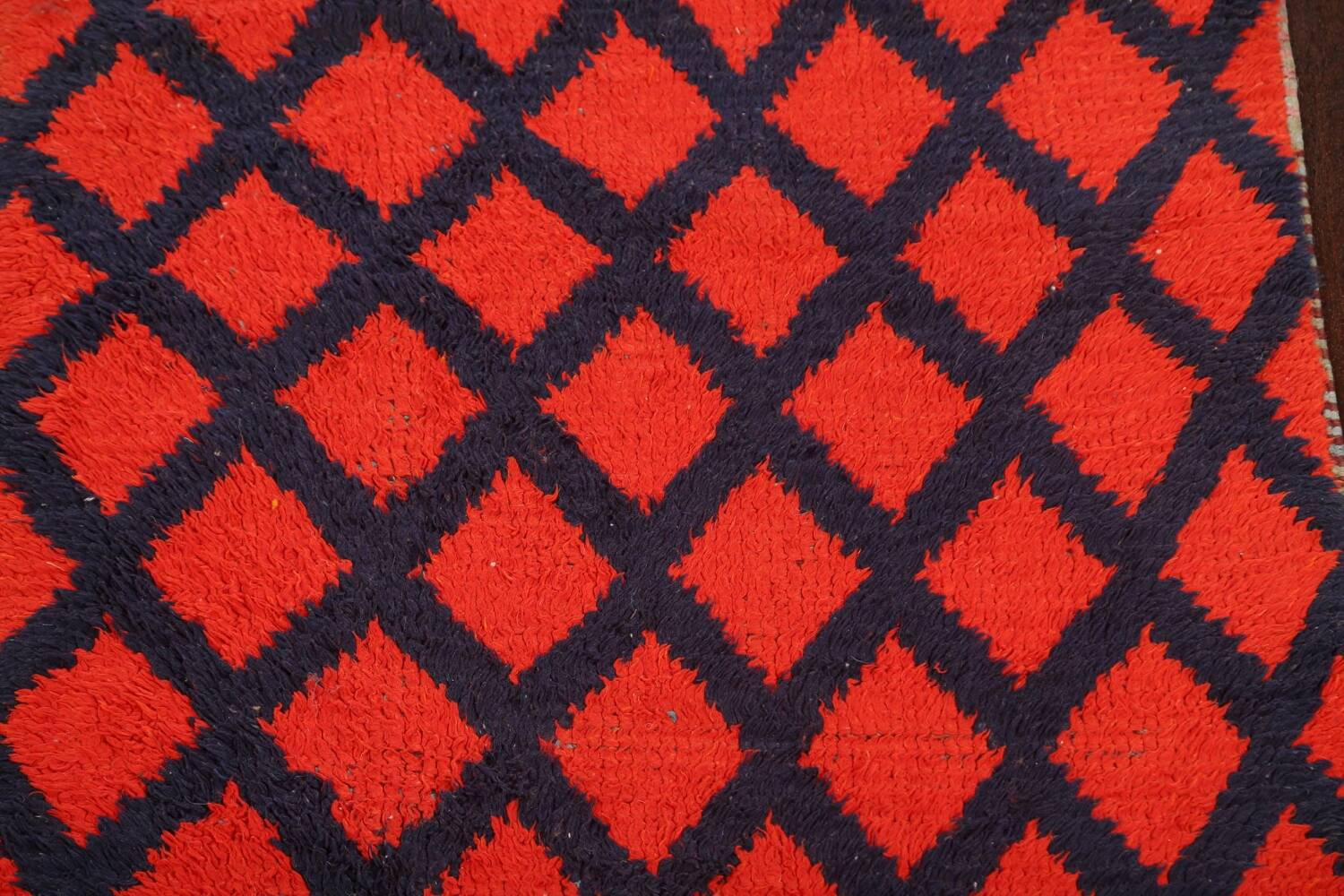 Checkered Tribal Moroccan Oriental Area Rug 3x6 image 4