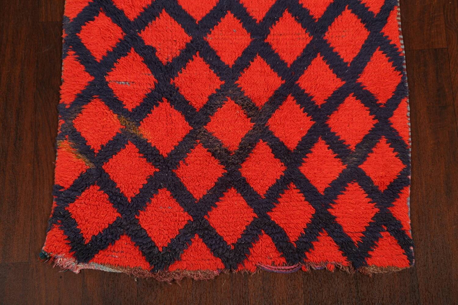 Checkered Tribal Moroccan Oriental Area Rug 3x6 image 8