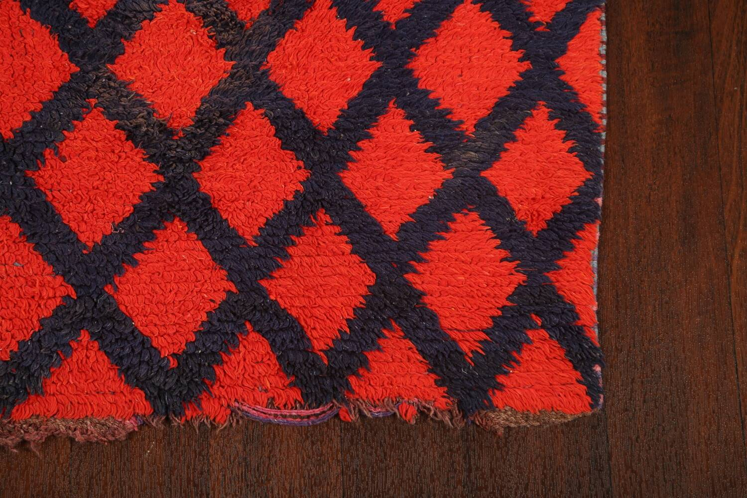 Checkered Tribal Moroccan Oriental Area Rug 3x6 image 5