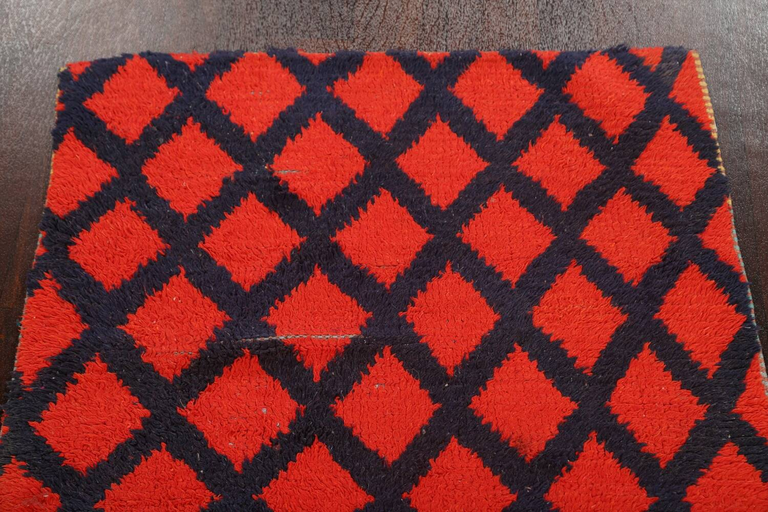 Checkered Tribal Moroccan Oriental Area Rug 3x6 image 11