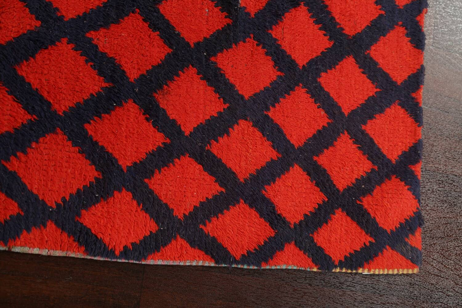 Checkered Tribal Moroccan Oriental Area Rug 3x6 image 12