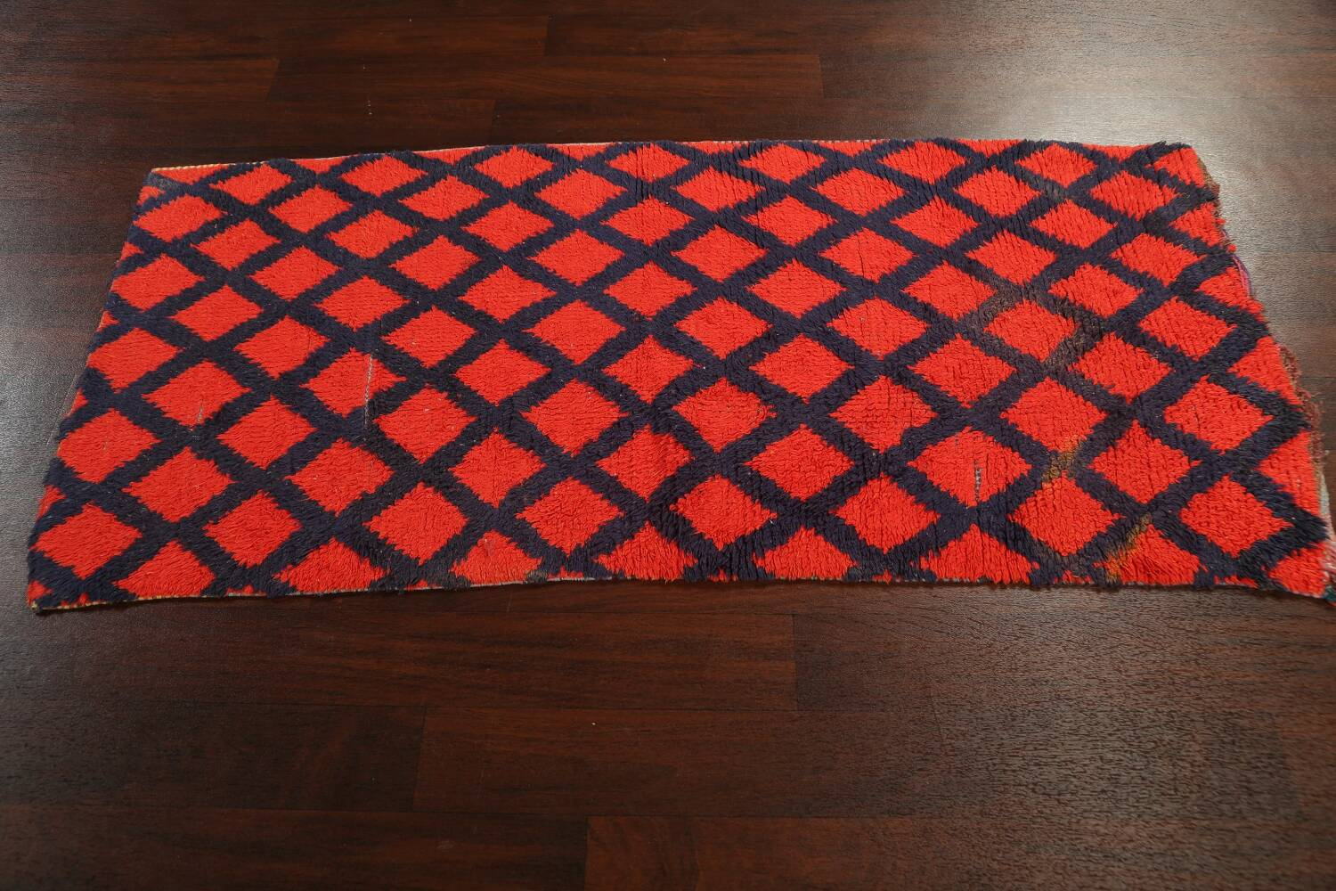 Checkered Tribal Moroccan Oriental Area Rug 3x6 image 14