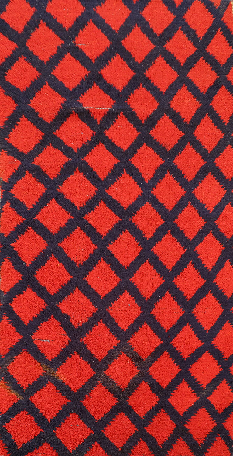 Checkered Tribal Moroccan Oriental Area Rug 3x6 image 1