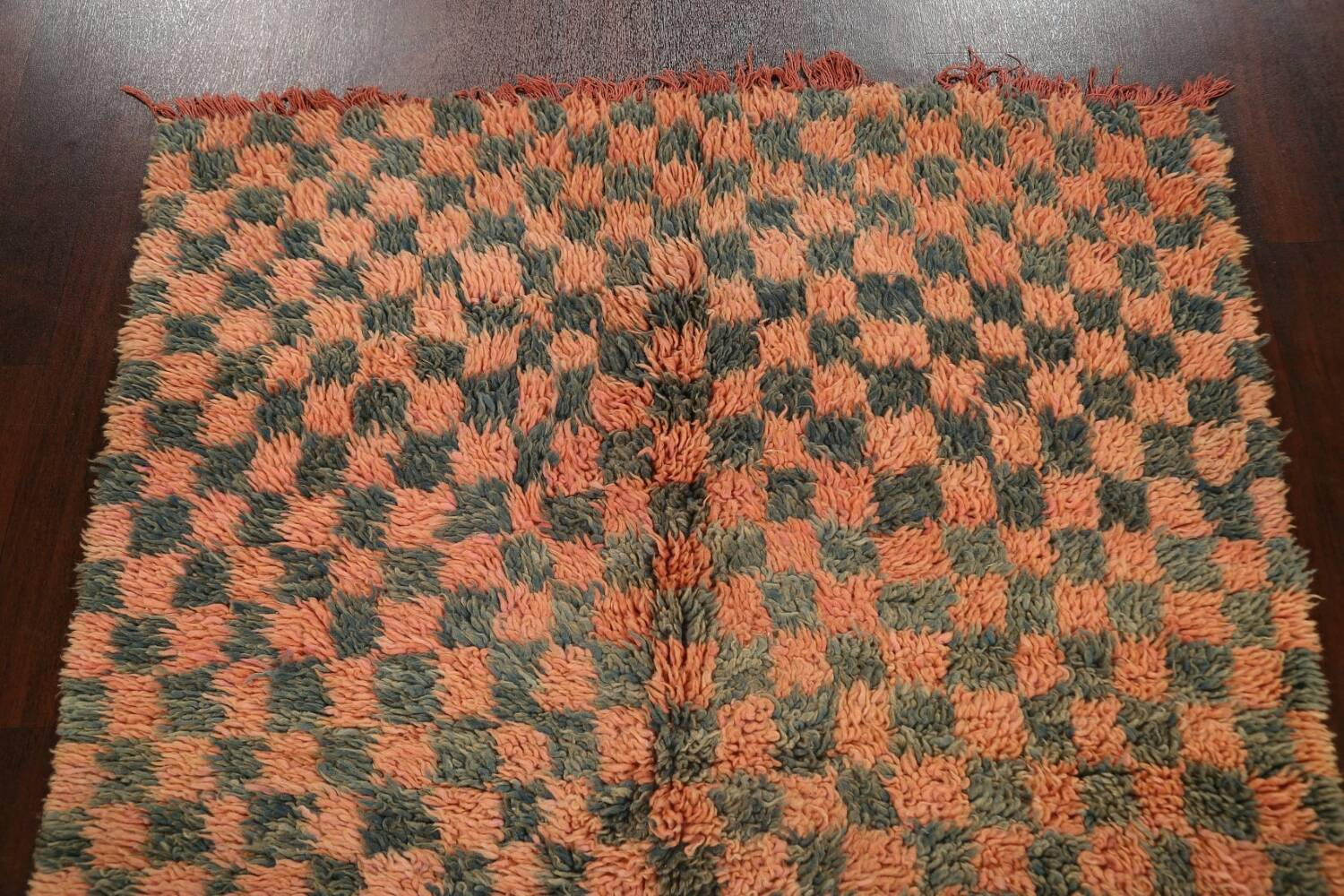 Checkered Tribal Moroccan Oriental Area Rug 4x6 image 11