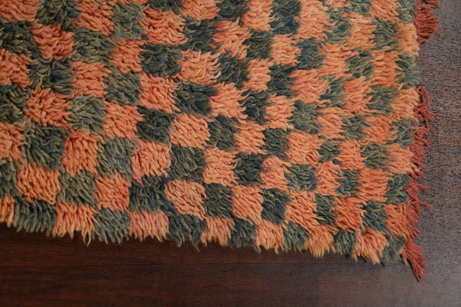 Checkered Tribal Moroccan Oriental Area Rug 4x6 image 12