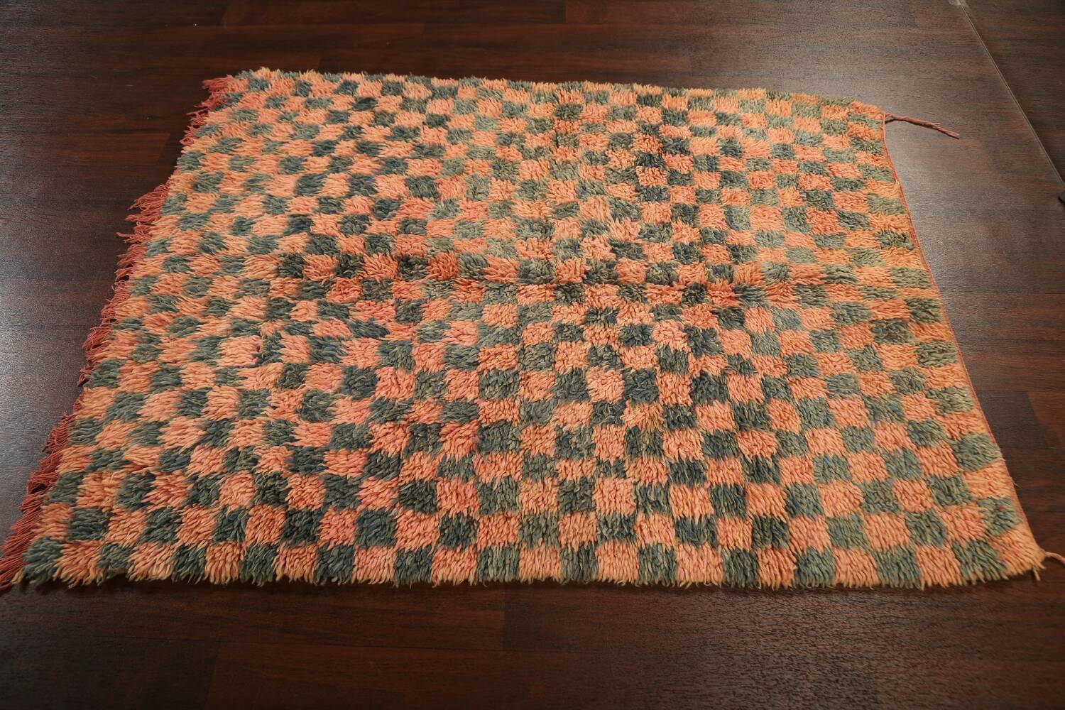 Checkered Tribal Moroccan Oriental Area Rug 4x6 image 13