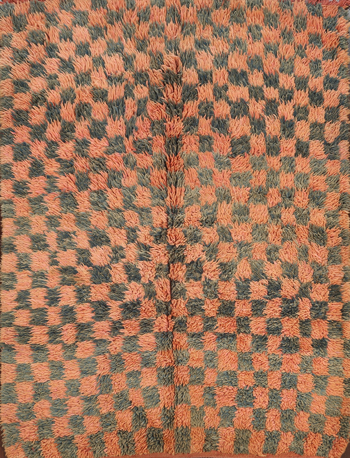 Checkered Tribal Moroccan Oriental Area Rug 4x6 image 1