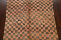 Checkered Tribal Moroccan Oriental Area Rug 4x6 image 3