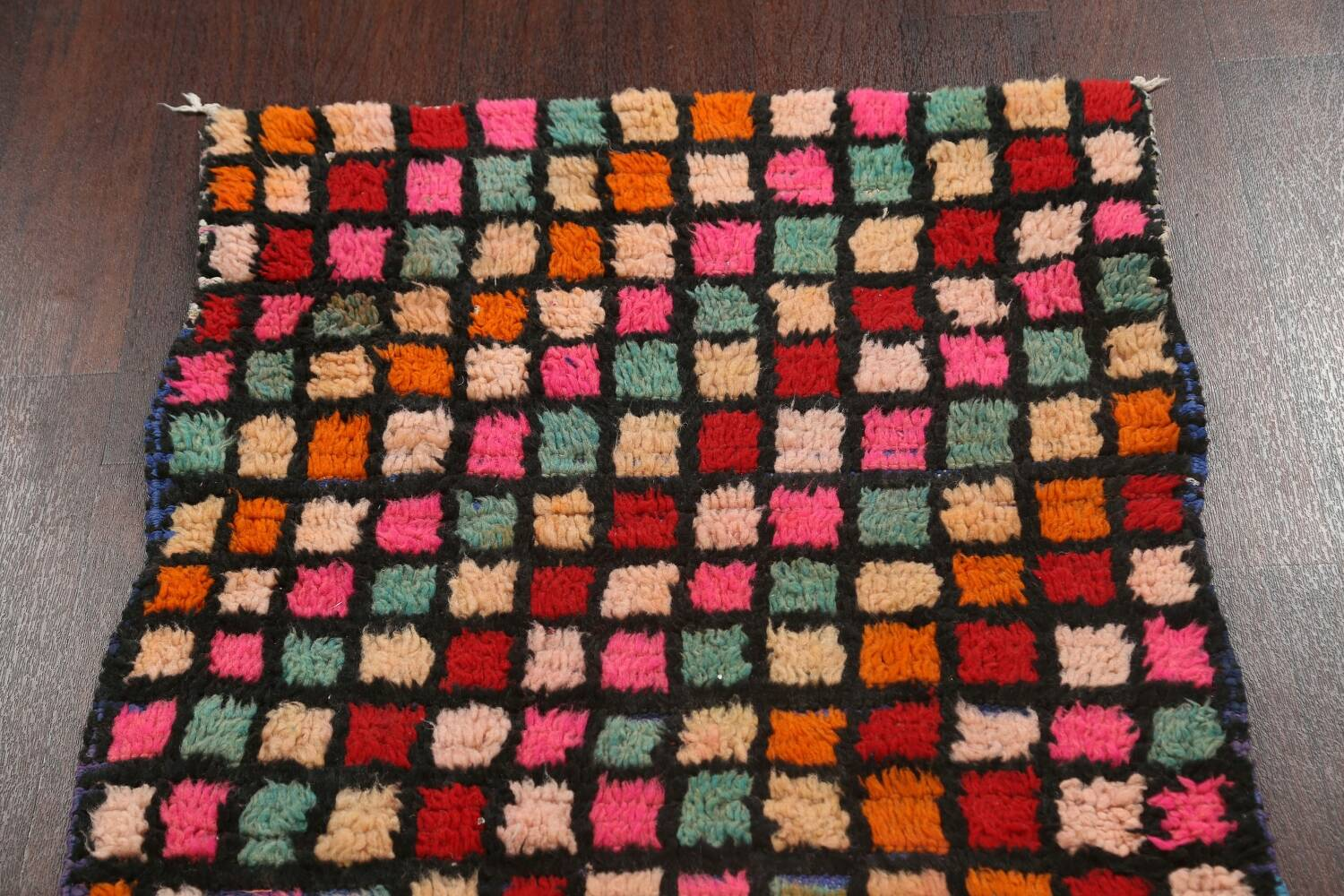 All-Over Checkered Moroccan Oriental Runner Rug 2x10 image 13