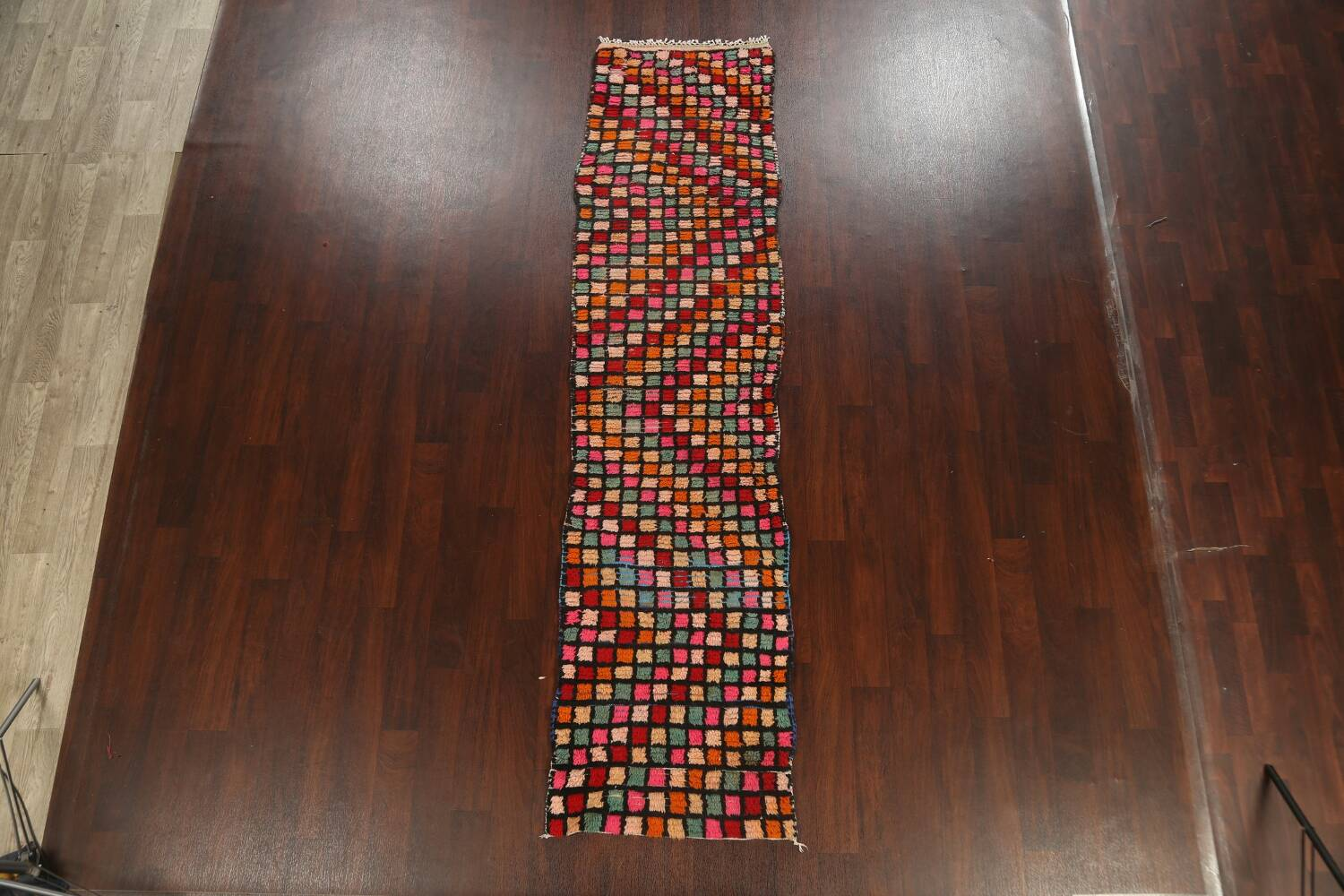 All-Over Checkered Moroccan Oriental Runner Rug 2x10 image 17