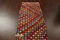 All-Over Checkered Moroccan Oriental Runner Rug 2x10 image 11