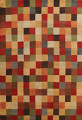 Checkered Area Rug 9x12 image 1