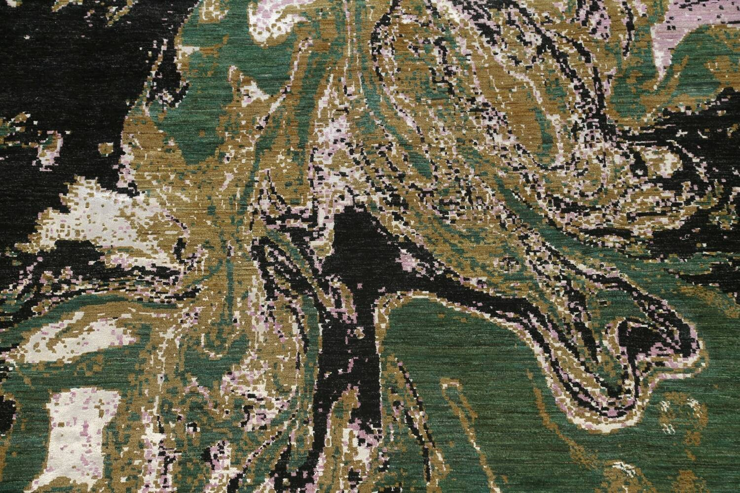 Vegetable Dye Contemporary Abstract Oriental Area Rug 9x12 image 4