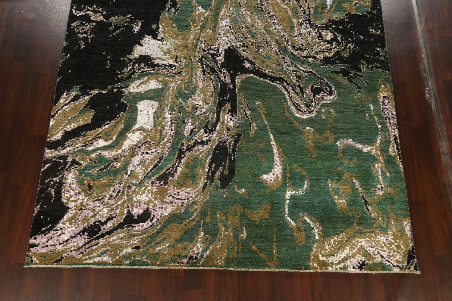 Vegetable Dye Contemporary Abstract Oriental Area Rug 9x12 image 8