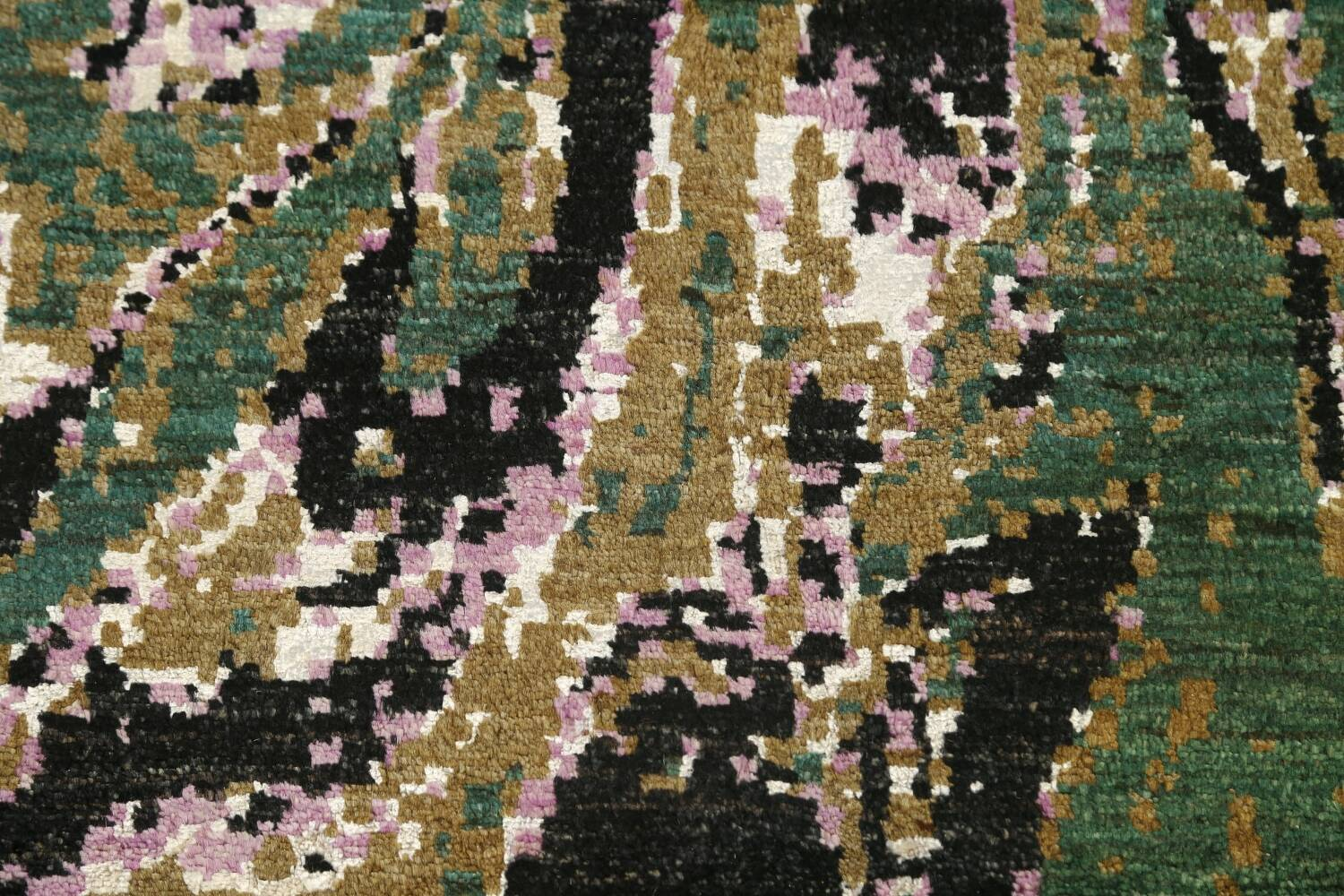 Vegetable Dye Contemporary Abstract Oriental Area Rug 9x12 image 11