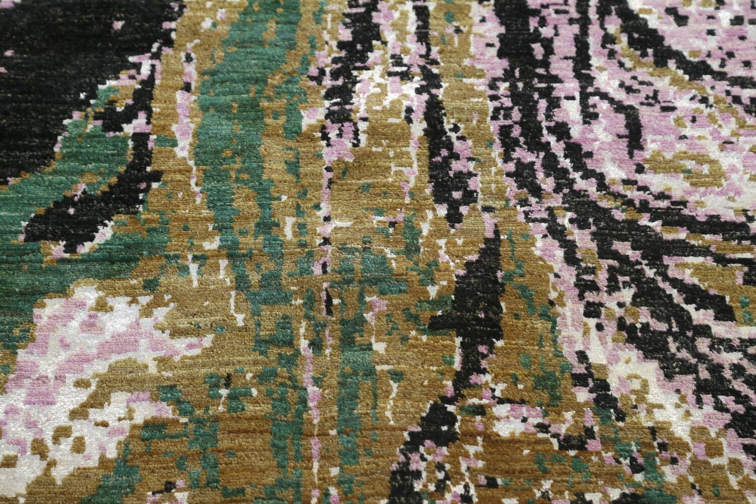 Vegetable Dye Contemporary Abstract Oriental Area Rug 9x12 image 12