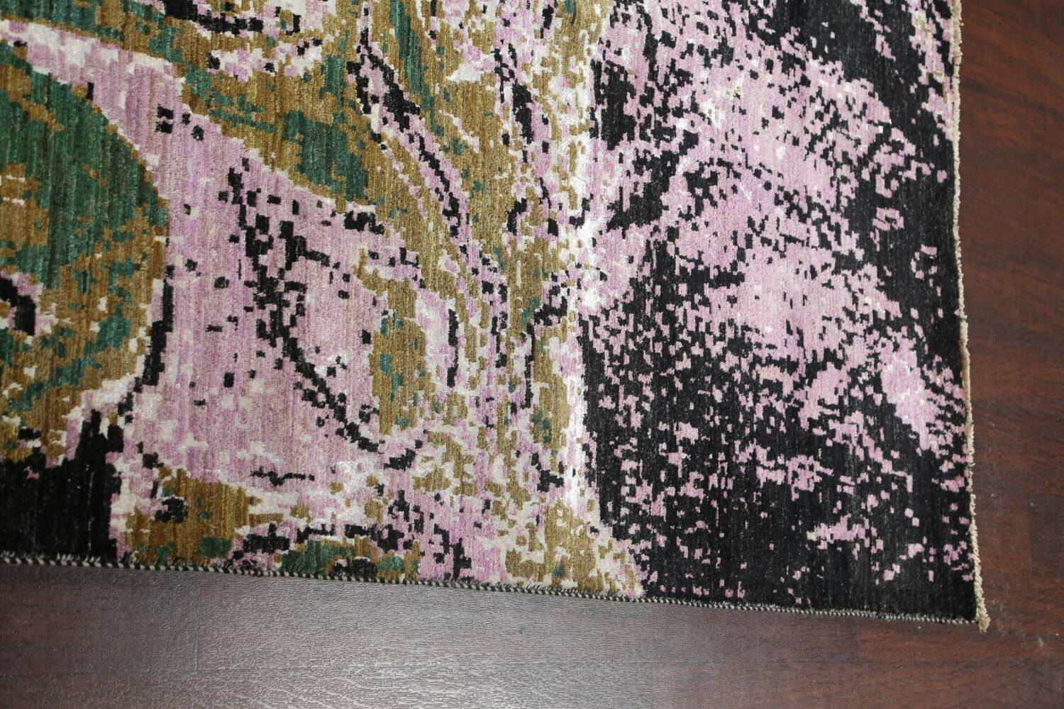 Vegetable Dye Contemporary Abstract Oriental Area Rug 9x12 image 15