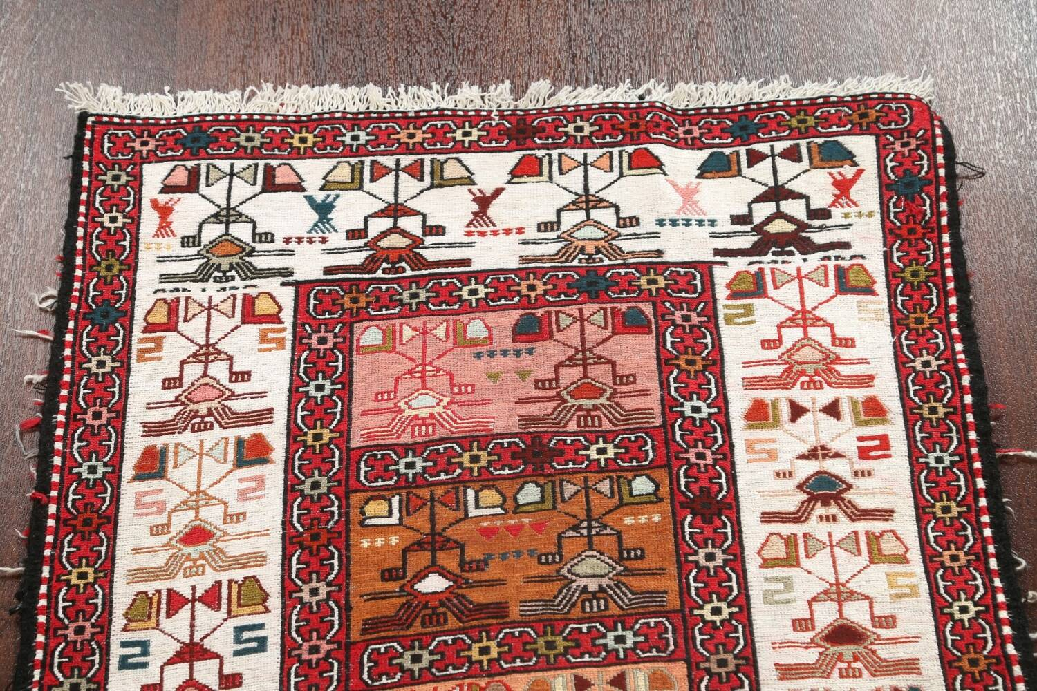 Tribal Sumak Persian Area Rug 2x3 image 10