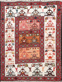Tribal Sumak Persian Area Rug 2x3 image 1