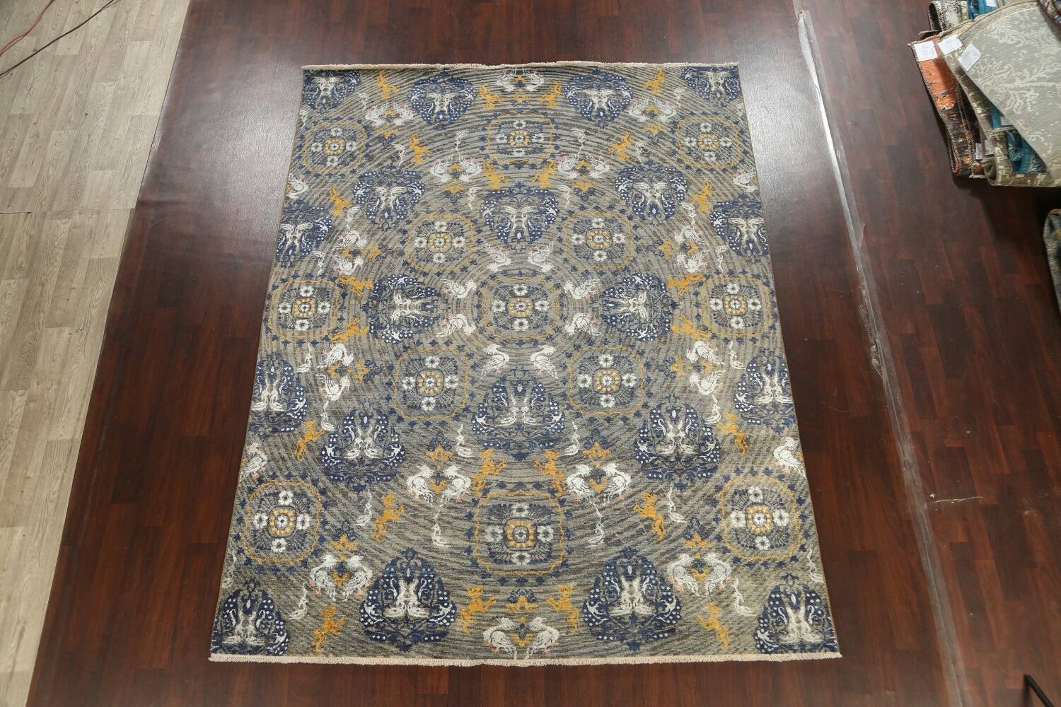 Vegetable Dye Animal Pictorial Abstract Oriental Area Rug 8x11 image 2
