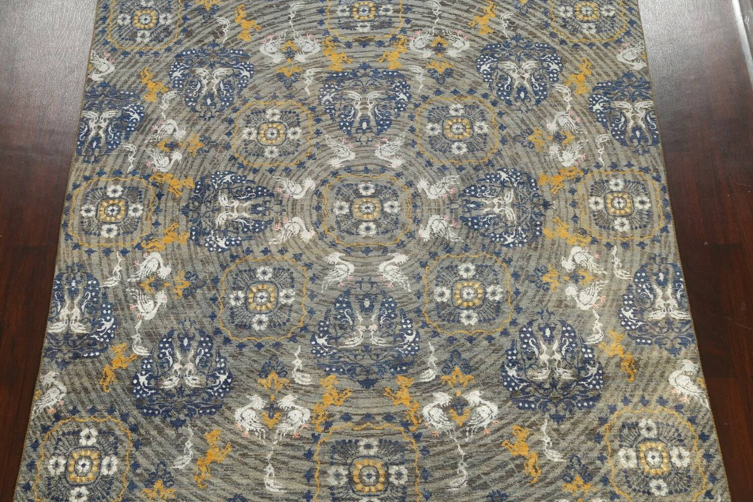 Vegetable Dye Animal Pictorial Abstract Oriental Area Rug 8x11 image 3