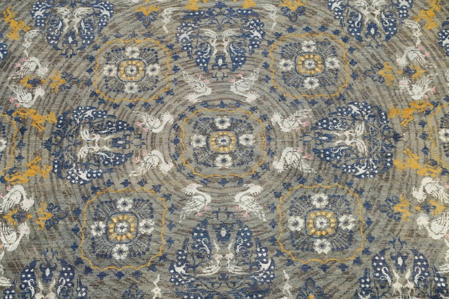 Vegetable Dye Animal Pictorial Abstract Oriental Area Rug 8x11 image 4